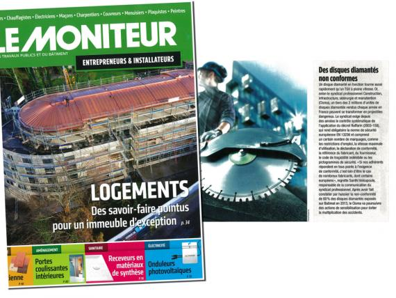 "Article de presse ""Le Moniteur"""