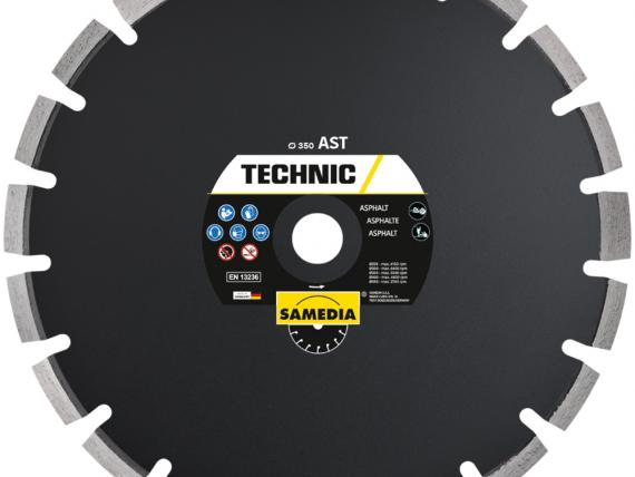 TECHNIC AST diamond blade for asphalt and abrasive concrete, by SAMEDIA