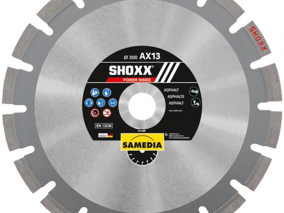 SHOXX AX13, special high range diamond blade for asphalt, by SAMEDIA