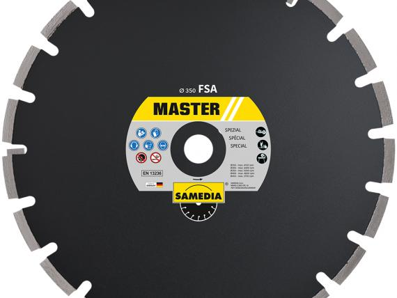 MASTER FSA, special diamond blade for green concrete, by SAMEDIA