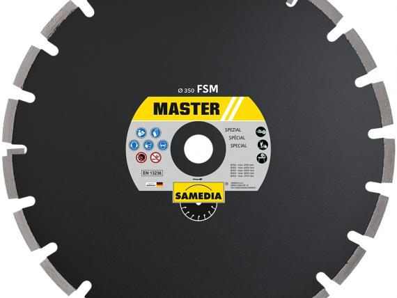 MASTER FSM, special blade for high-quality cuts into wet and green concrete, by SAMEDIA