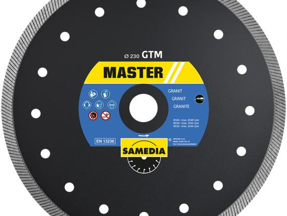 MASTER GTM diamond blade for granite, by SAMEDIA
