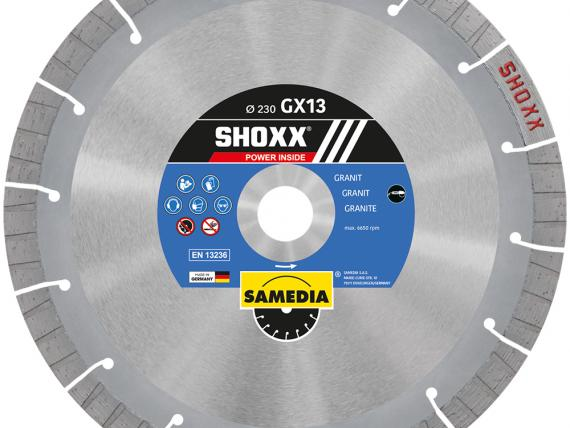 SHOXX GX13 high-end diamond blade for GRANITE, by SAMEDIA