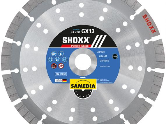 SHOXX GX13 SILENCIO high-end blade for GRANITE, by SAMEDIA
