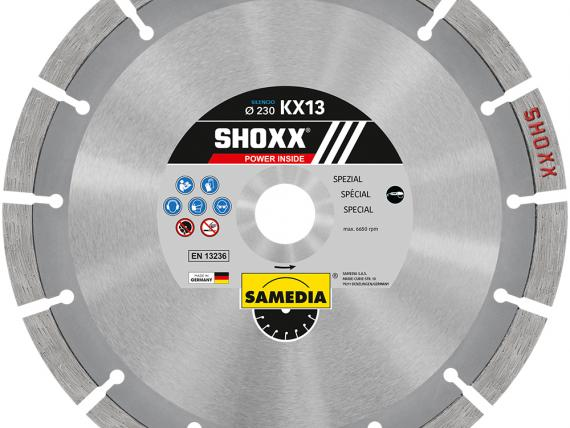 SHOXX KX13 SILENCIO, top-level special diamond blade by SAMEDIA