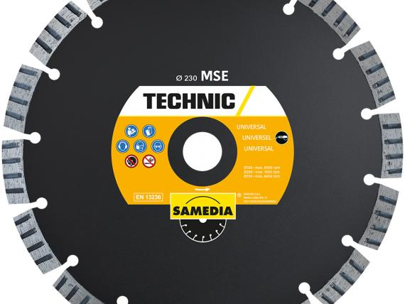 TECHNIC MSE universal diamond blade, by SAMEDIA
