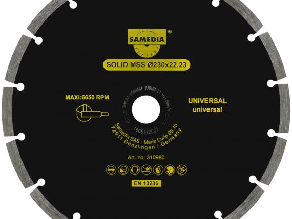 SOLID MSS universal diamond blade, by SAMEDIA