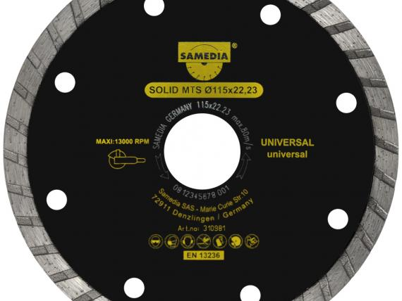 SOLID MTS universal diamond blade, by SAMEDIA