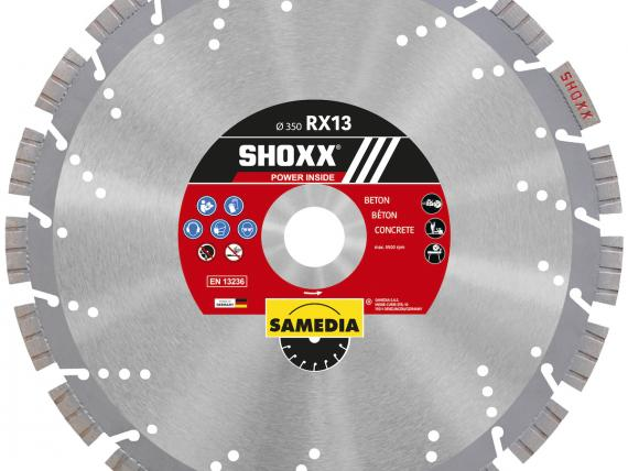 Shoxx RX13 diamond blade - by SAMEDIA - 350mm