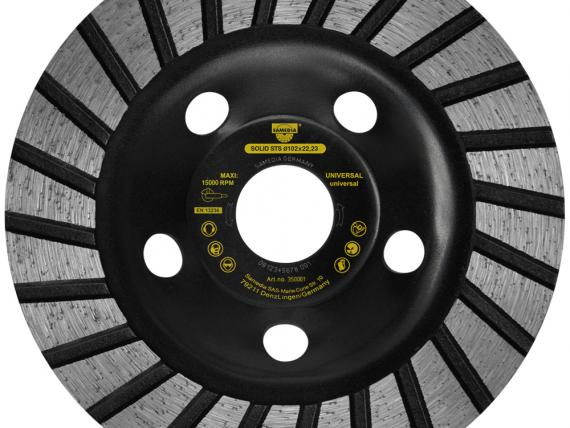 SOLID STS diamond cup wheel for standard concrete grinding, by SAMEDIA