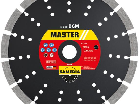MASTER BGM concrete blade by SAMEDIA - 230 mm