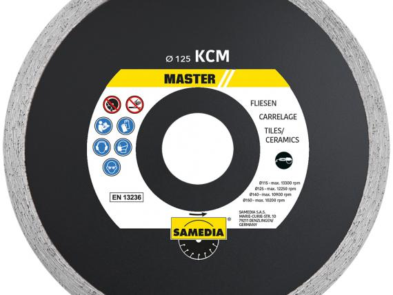 MASTER KCM diamond blade, for tiles, by SAMEDIA - 125 mm
