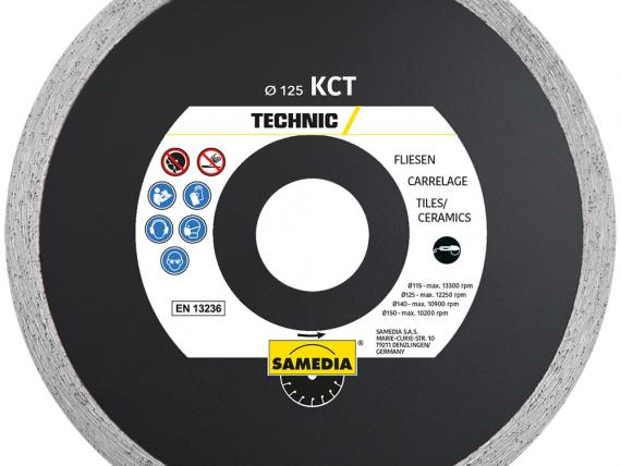 TECHNIC KCT, diamond blade for tiles, by SAMEDIA - 125 mm