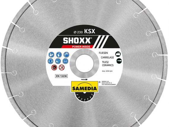 SHOXX KSX high-range blade for ceramics and marble, by SAMEDIA - 230 mm