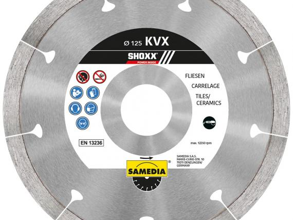 SHOXX KVX, a high-level blade for tiles and ceramics, by SAMEDIA - 125 mm